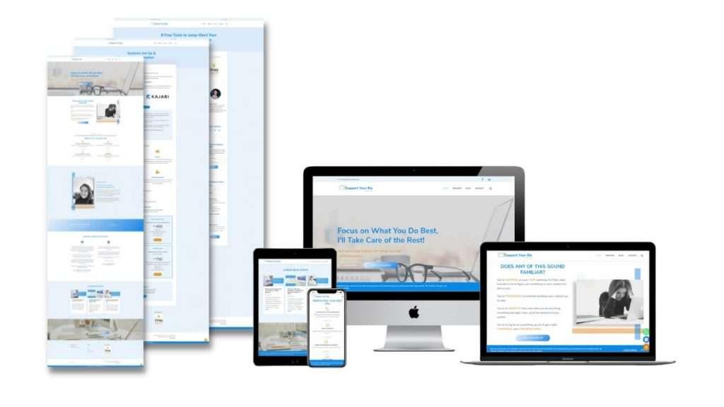 Support Your Biz website design